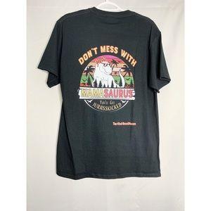 Don't mess with mamasaurus mama T-shirt M black